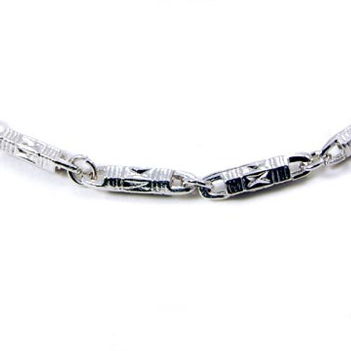 TEXTURED BULLET CHAIN-SILVER