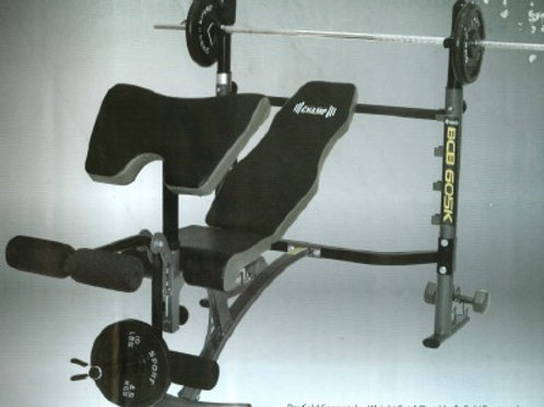 BCB 605K MID-WITH WEIGHT BENCH