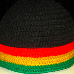 DELORES CHAMBLIN DESINGER KUFI - RED/YELLOW/GREEN