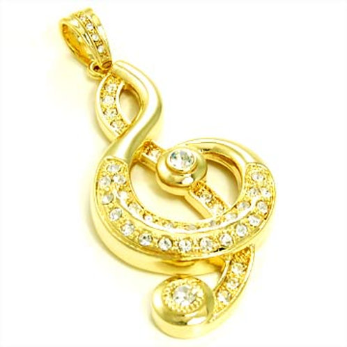 TREBLE CLEF PENDANT-GOLD