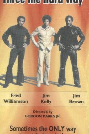 THREE THE HARD WAY-VHS