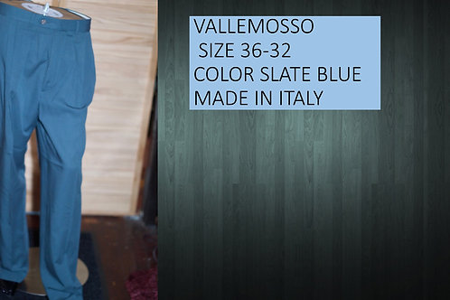 VALLEMOSSA SIZE 36/32 COLOR SLATE BLUE MADE IN ITALY