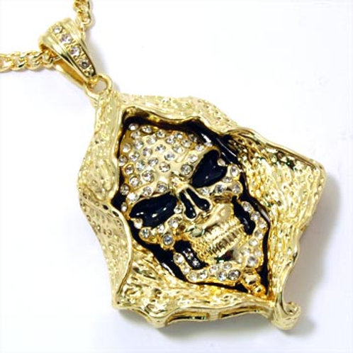 GRIM REAPER PENDANT ON 36IN FRANCO-GOLD