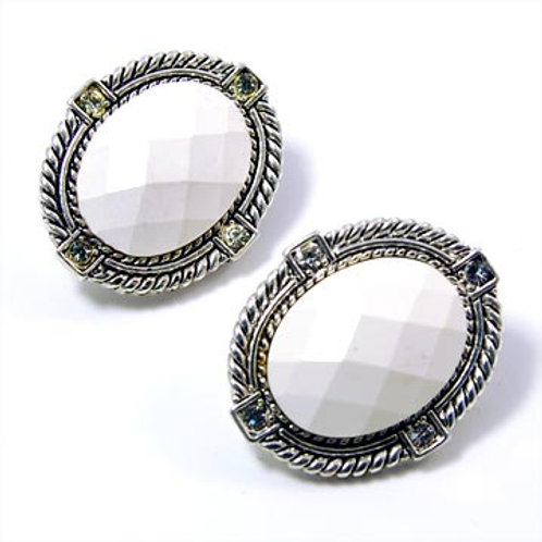 NATURAL STONE WESTERN CLIP EARRINGS