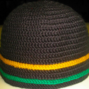 DELORES CHAMBLIN DESIGNER KUFI -BLACK/YELLOW/GREEN