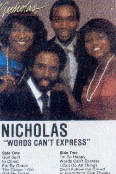 Nicholas Words can't express-CASSETTE