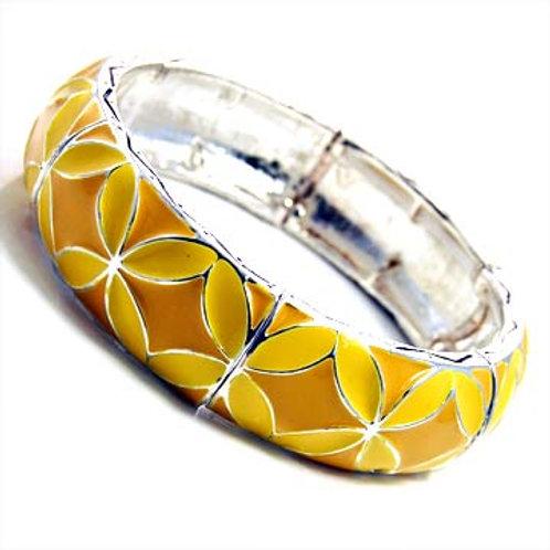 Epoxy Floral Stretchable Bracelet