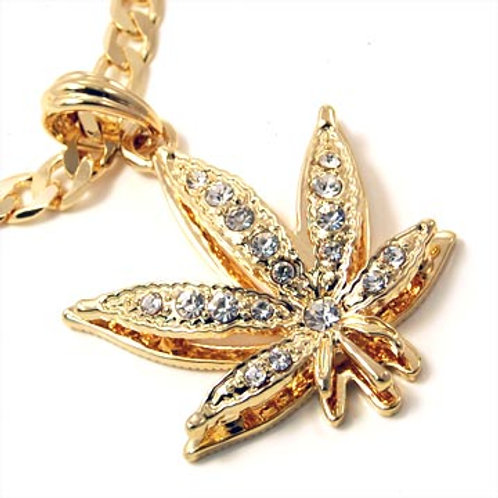 LEAF FIGARO CHAIN NECKLACE