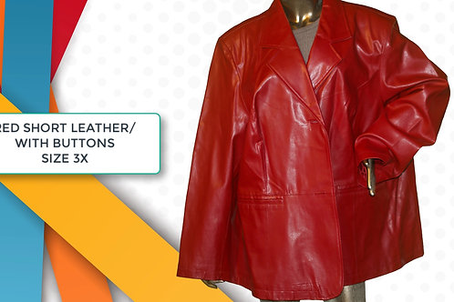 MAGGIE BURNS /RED LEATHER W/HOOD 18-20