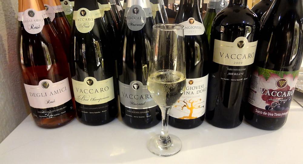 Alguns dos vinhos da Vaccaro (Foto: Marcelo Vargas)