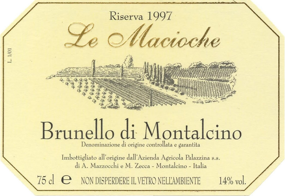 Rótulo de um Brunello de Montalcino (Foto: divulgação)