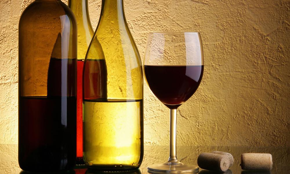 As calorias do vinho