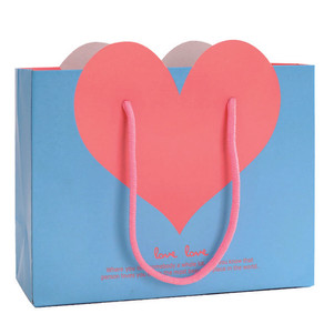 Paper bags with heart shape