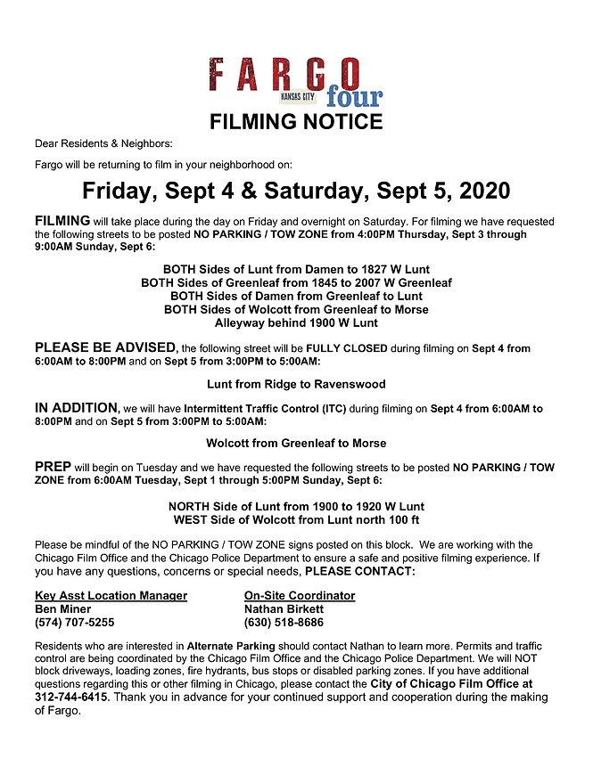 1900 W Lunt Leaflet 8-24 - Filming 9-4 -