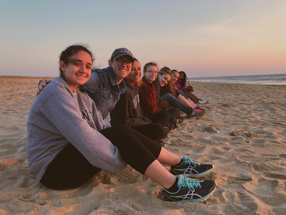 Gamma Sigma Sigma sisters at Cape Henlopen.