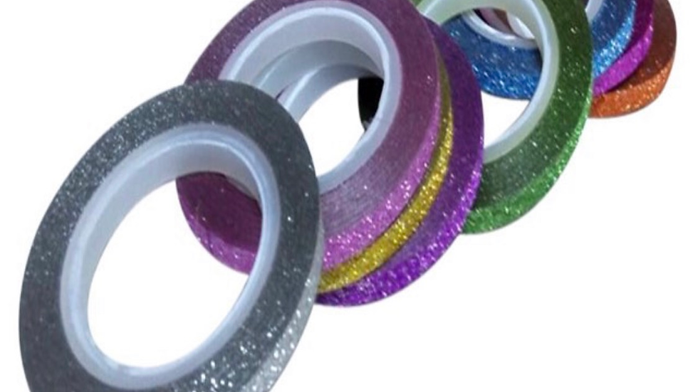 Glitter striping tape
