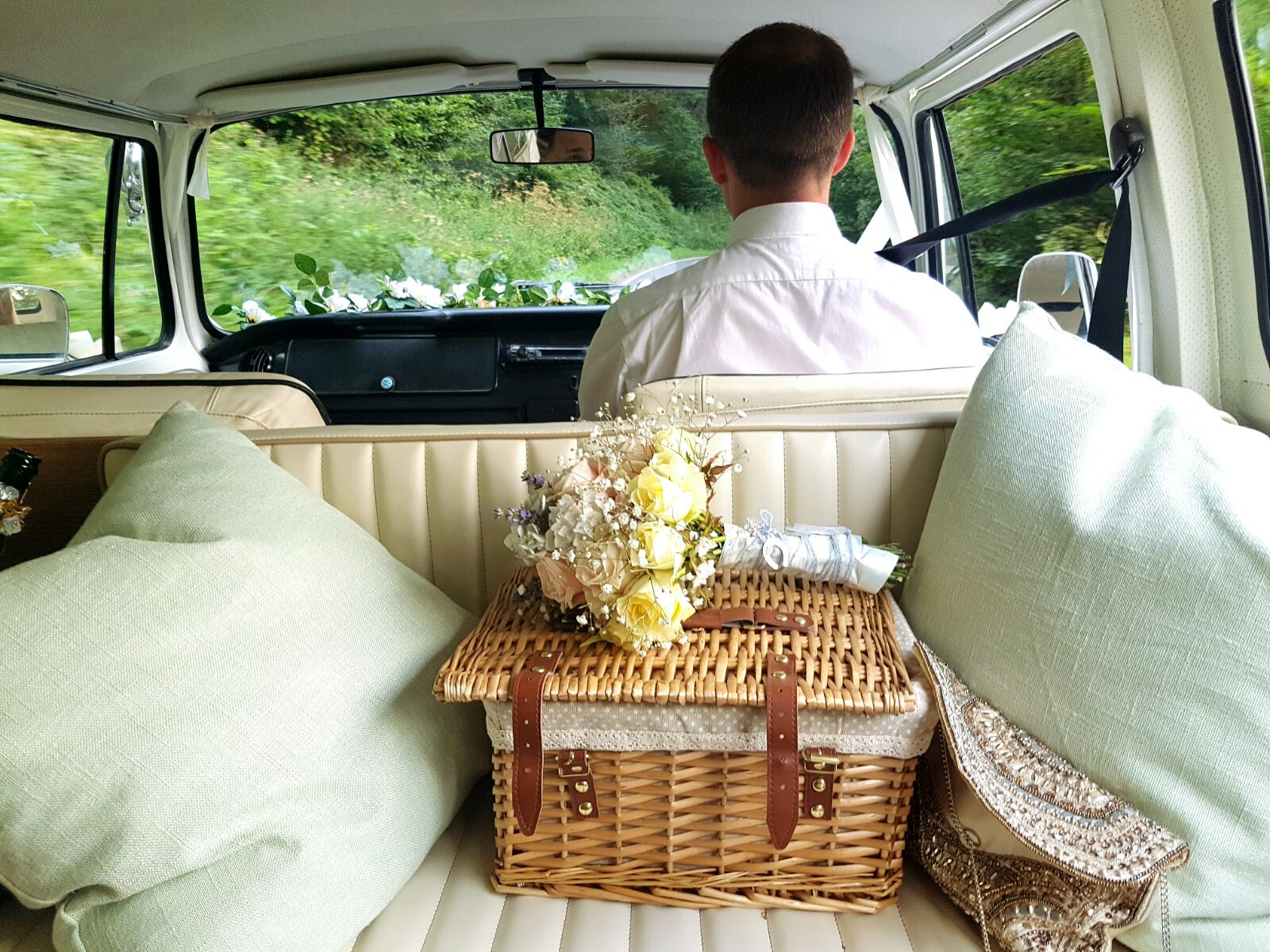 Chauffeur-driven wedding transport