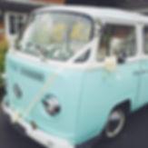 duck egg blue vw camper volkswagen ribbons flowers wedding transport Manchester Sheffield Yorkshire Derbyshire