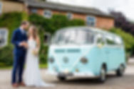 vw camper wedding hire manchester duck-egg blue Volksawgen bride and groom Chasing Rainbows Vintage Campers Manchester Leeds Sheffield