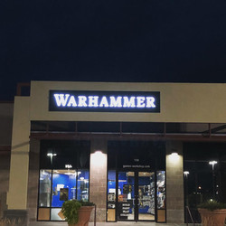 Commercial signage lighting