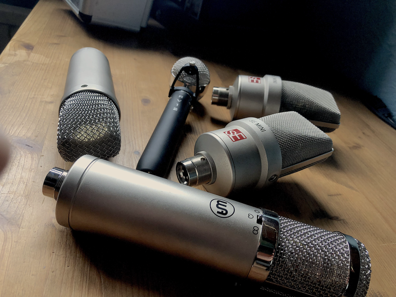 A handful of Microphones