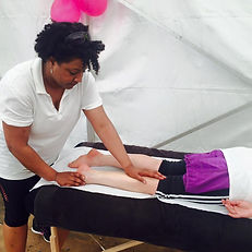 Alison Hintzen Massage Therapist Breast Cancer Campaign Brighton Marathon