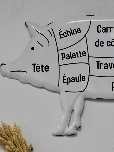 Plaque cochon