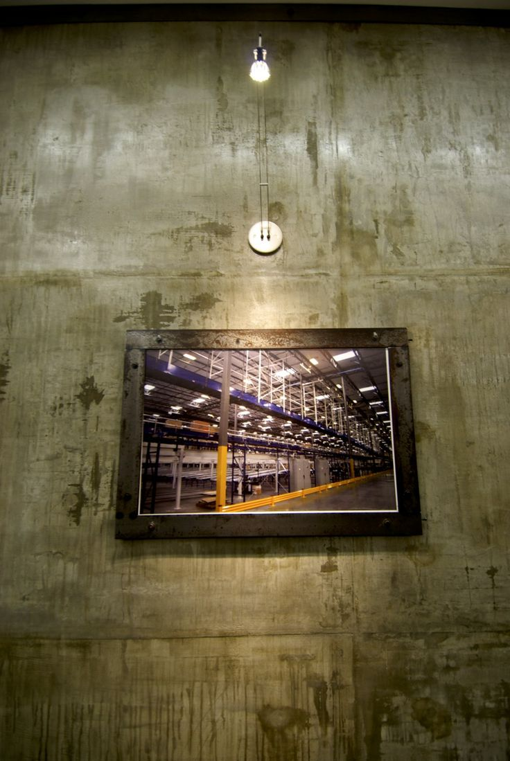 Custom framing & faux concrete wall
