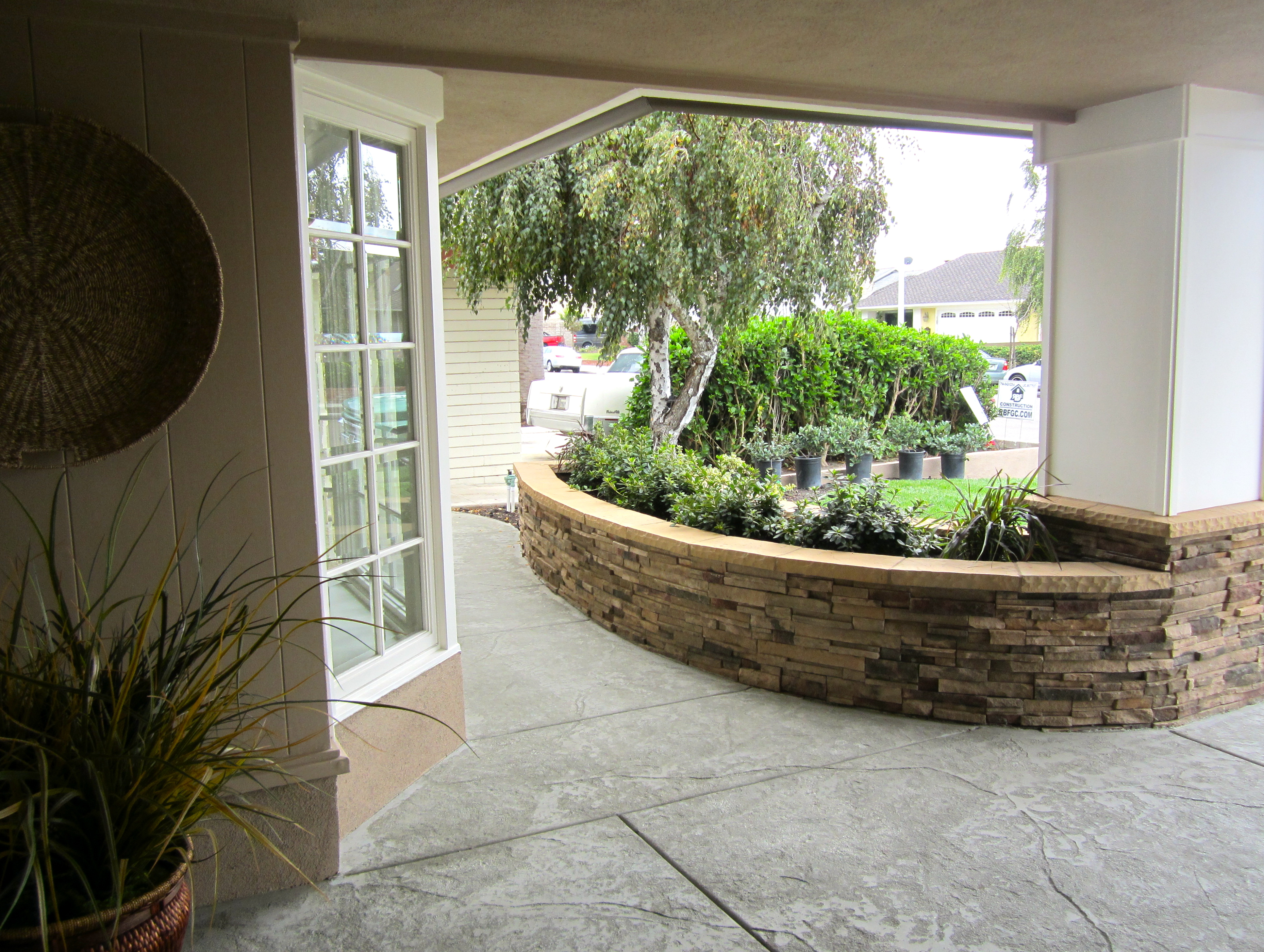 Path and planter