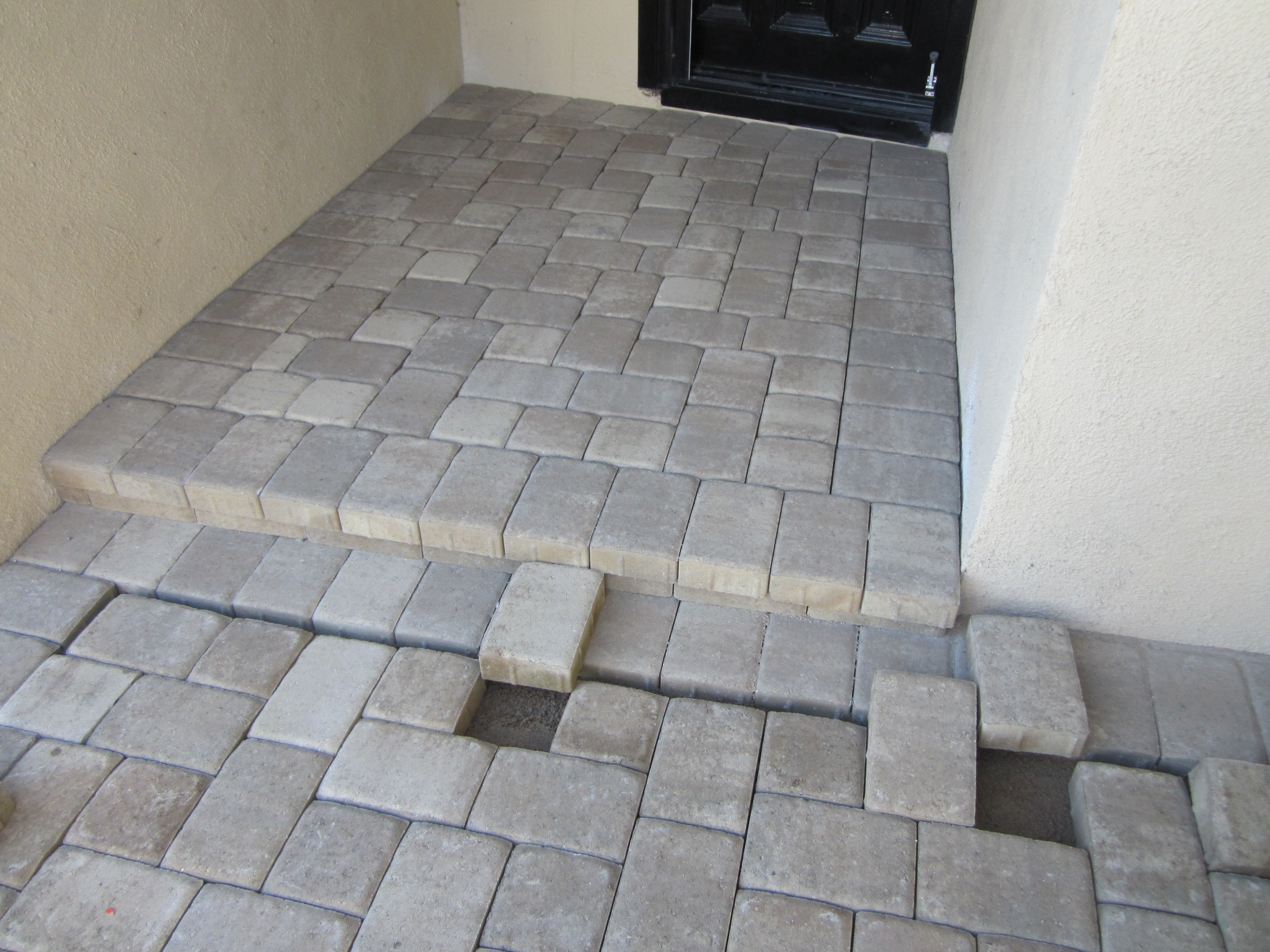 After- Basket Weave Dutch stone path