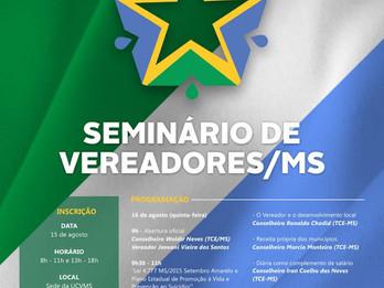 O seminário do mês de agosto tem a  parceria com o TCE/MS