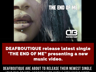 """""""THE END OF ME"""" (OUT 5/26)"""