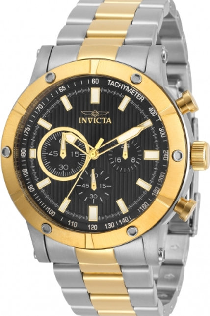 """""""Invicta"""" Specialty  46mm Stainless Steel Bracelet Black Dial"""