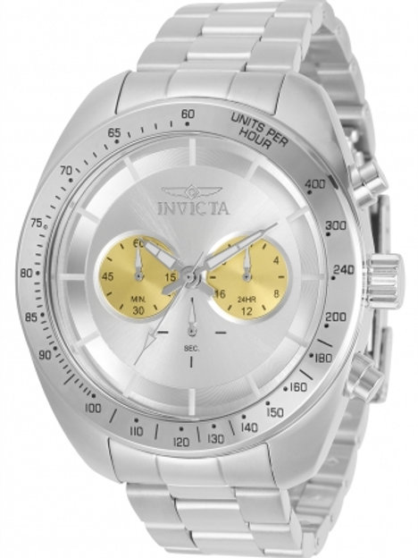 """Invicta"" Speedway Chronograph Silver and Gold Dial"