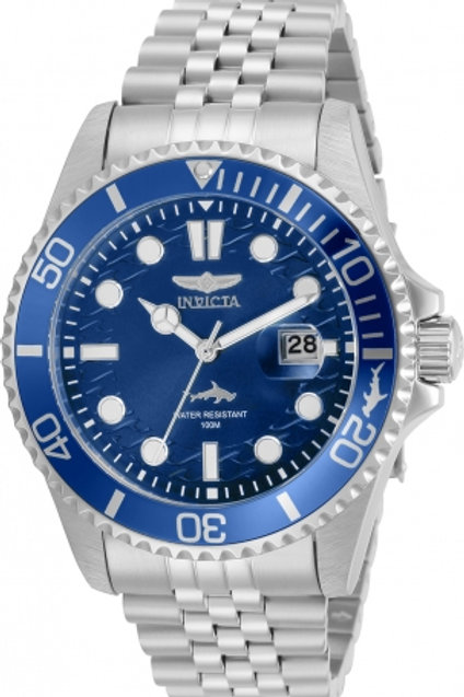 """""""Invicta"""" Pro Diver Blue Dial Stainless Steel Bracelet"""
