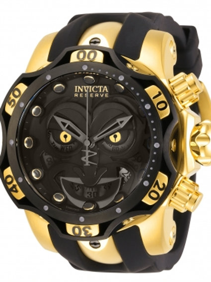 """Invicta"" Reserve Venom DC Comics Joker 1000m Chronograph 52mm Swiss Black/Gold"