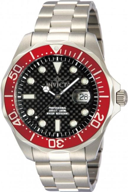 """Invicta"" Pro Grand Diver Black Carbon Fibre Bracelet"