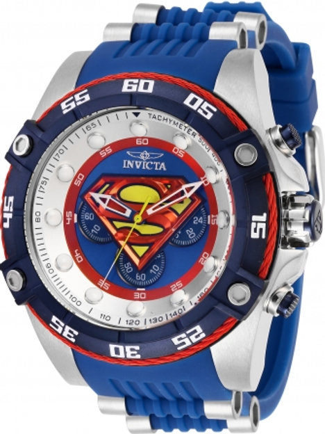 """Invicta"" Limited Edition DC Comics SUPERMAN Blue Tone Chronograph"