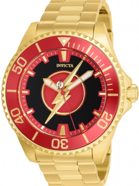 """Invicta"" Limited Edition DC Comics Flash Man 47mm Automatic"
