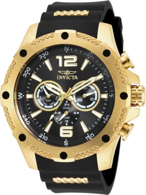 """Invicta"" I-Force Gent's 50mm Steel & Polyurethane Strap Watch"