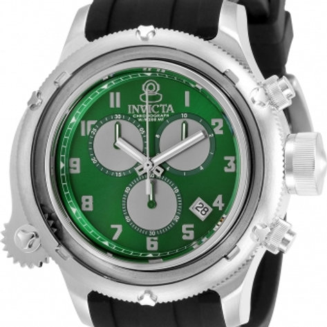 """Invicta"" Russian Diver NAUTILUS Green Caged Dial Swiss Chrono"