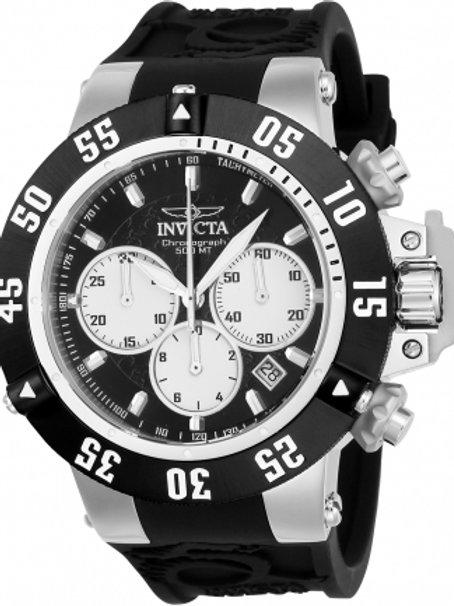 """Invicta"" Subaqua Noma III 50mm Chronograph Stainless Steel Black Dial"