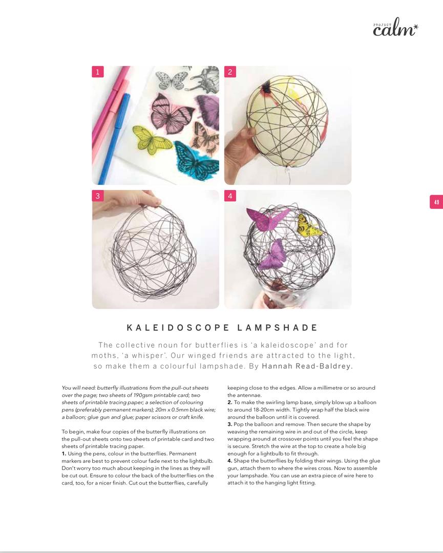 Project Calm Magazine Craft