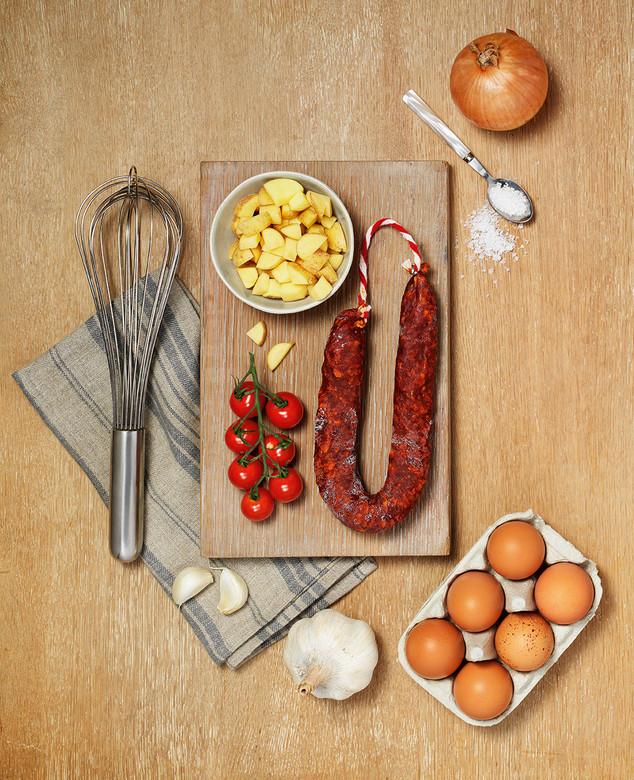 Spanish Omelette with Chorizo - Hero cop