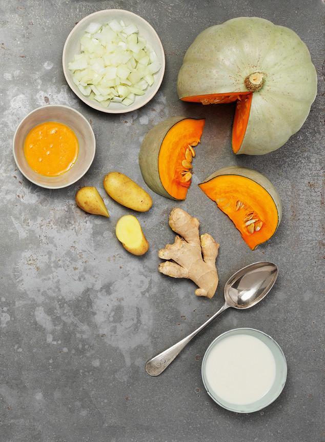 Pumpkin Ice Cream With Potato Foam  - He