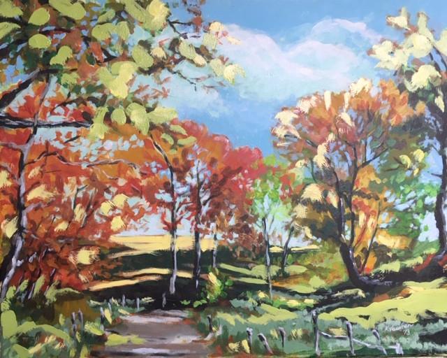 "Acrylic and oil on canvas, 20X16"""