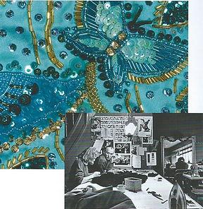Caroline van Staveren op Atelier Frank Govers, borduurwerk