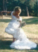 80s bruidsjurk zuiver zijde