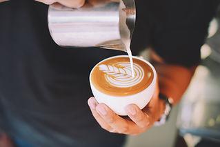 Latte art tulip design