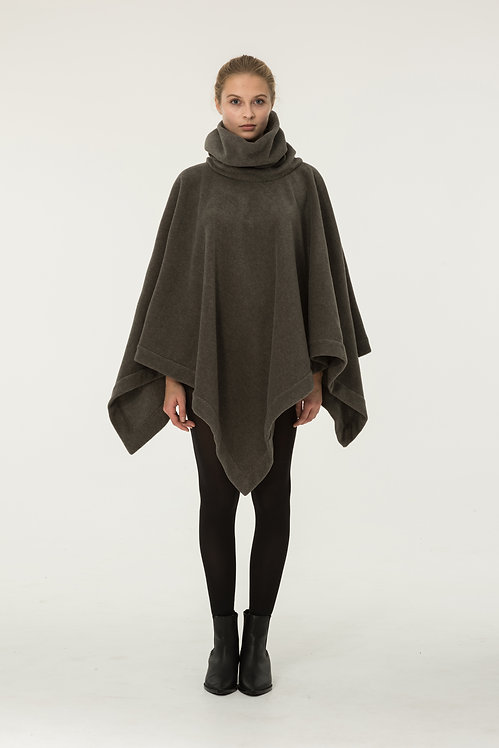 PONCHO FLEECE GREY